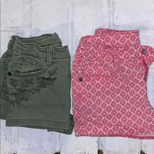 Lot of 2 Pairs of Girls Shorts